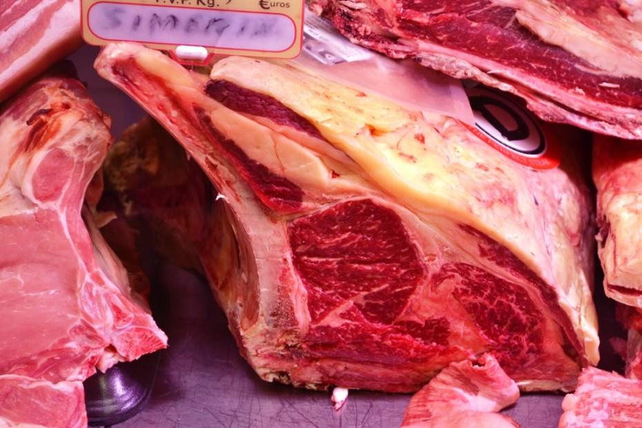 Delicioso chuletón de vaca gallega del mercado de Almería