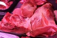 Excelente magra de jamón de cerdo del mercado de Almería