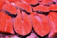Sanísimos filetes de salmón del mercado de Almería