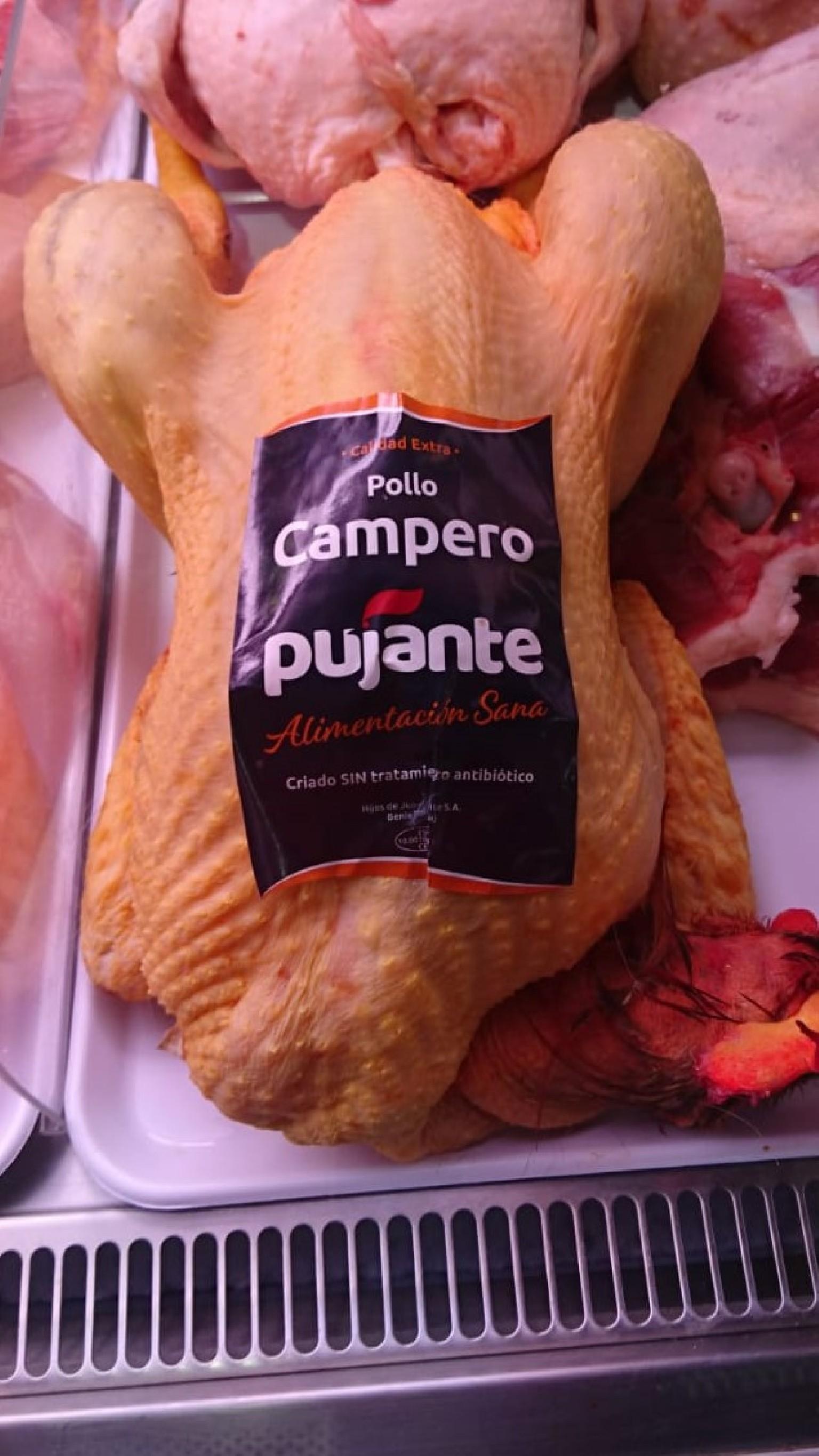 pollo entero campero pujante
